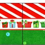 Bandeirinha Sanduiche 9 Fundo Natal Vermelho e Verde