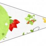 Bandeirinha Sanduiche Fundo Natal Verde e Branco 4