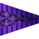 Bandeirinha Sanduiche Fundo Roxo 5