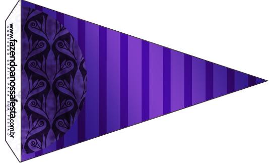 Bandeirinha Sanduiche Fundo Roxo 6