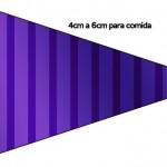 Bandeirinha Sanduiche Fundo Roxo 7