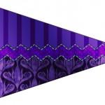 Bandeirinha Sanduiche Fundo Roxo 9