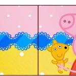 Bandeirinha Sanduiche Peppa Pig e Teddy