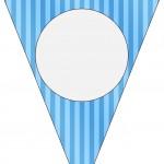 Bandeirinha Varalzinho Fundo Azul e Verde