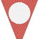 Bandeirinha Varalzinho Fundo Natal Vermelho e Verde