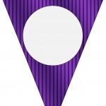 Bandeirinha Varalzinho Fundo Roxo