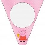 Bandeirinha Varalzinho Peppa Pig e Teddy