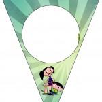 Bandeirinha Varalzinho Show da Luna para Meninos