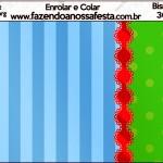 Binsaga Brigadeiro Fundo Azul e Verde