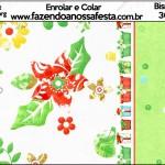 Bisnaga Brigadeiro 30gr Fundo Natal Verde e Branco