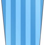 Bisnaga Flip Top Fundo Azul e Verde