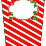 Bisnaga Flip Top Fundo Natal Vermelho e Verde