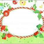 Bolinha de Sabão Fundo Natal Verde e Branco