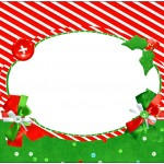 Bolinha de Sabão Fundo Natal Vermelho e Verde