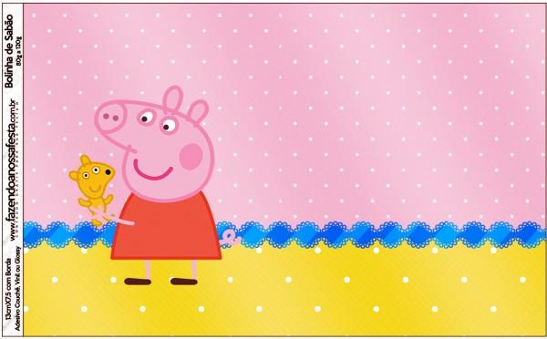 Bolinha de Sabão Peppa Pig e Teddy