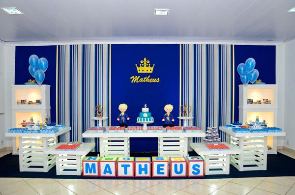 festa de 5 anos do seu príncipe Matheus! O tema não podia ser outro