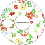 CD DVD Fundo Natal Verde e Branco