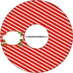 CD DVD Fundo Natal Vermelho e Verde