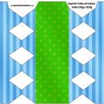Caixa Bala Fundo Azul e Verde
