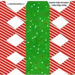 Caixa Bala Fundo Natal Vermelho e Verde