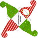 Caixa Bombom Fundo Natal Vermelho e VerdeCaixa Bombom Fundo Natal Vermelho e Verde