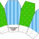 Caixa China in Box Fundo Azul e Verde