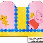 Caixa Coração Peppa Pig e Teddy