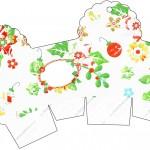 Caixa Cupcake Fundo Natal Verde e Branco