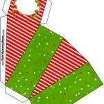 Caixa Fatia Fundo Natal Vermelho e Verde