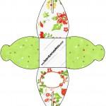 Caixa Fundo Natal Verde e Branco