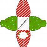 Caixa Fundo Natal Vermelho e Verde