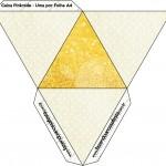 Caixa Pirâmide Fundo Ano Novo