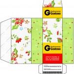 Caixa Remédio Fundo Natal Verde e Branco