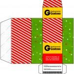 Caixa Remédio Fundo Natal Vermelho e Verde
