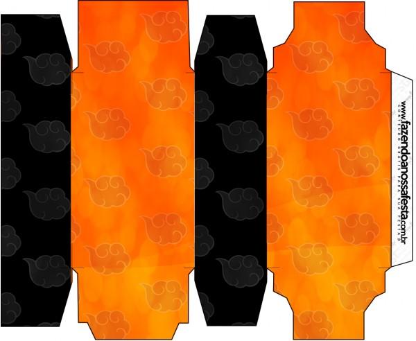 Caixa Sabonete Fundo Naruto