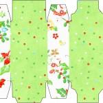 Caixa Sabonete Fundo Natal Verde e Branco