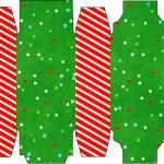 Caixa Sabonete Fundo Natal Vermelho e Verde