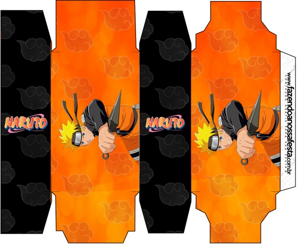 Caixa Sabonete Naruto