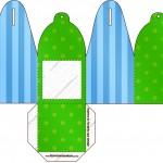 Caixa com Foto Fundo Azul e Verde