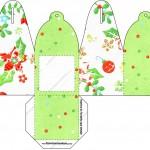 Caixa com Foto Fundo Natal Verde e Branco