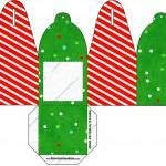 Caixa com Foto Fundo Natal Vermelho e Verde