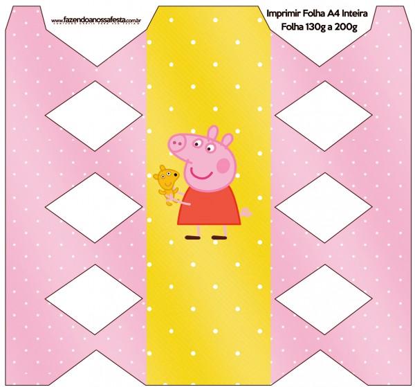 Caixa com Foto Peppa Pig e Teddy