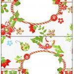 Cartão Agradecimento de Mesa Fundo Natal Verde e Branco