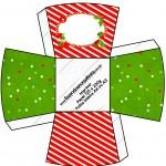 Chachepô de Mesa Fundo Natal Vermelho e Verde
