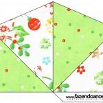 Cone Guloseimas 4 lados Fundo Natal Verde e Branco