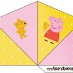 Cone Guloseimas 4 lados Peppa Pig e Teddy