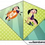 Cone Guloseimas 4 lados Show da Luna para MeninosCone Guloseimas 4 lados Show da Luna para Meninos
