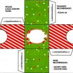 Convite Caixa Tampa Fundo Natal Vermelho e Verde