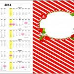Convite Calendário 2014 2 Fundo Natal Vermelho e Verde