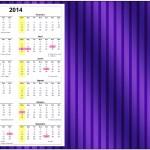 Convite Calendário 2014 2 Fundo Roxo